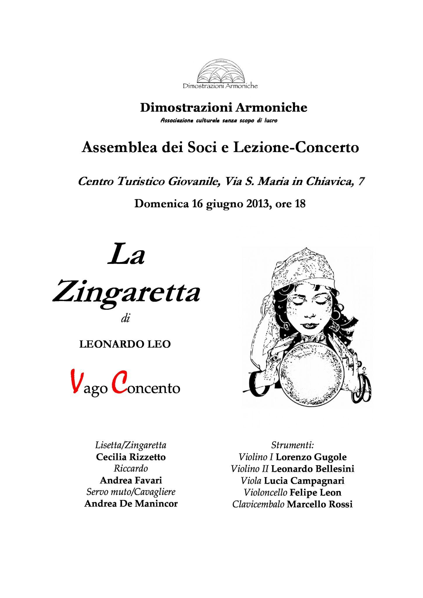 2013 locandina la zingaretta