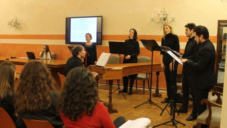 Lezione concerto Petrarca in musica di Ensemble Vago Concento
